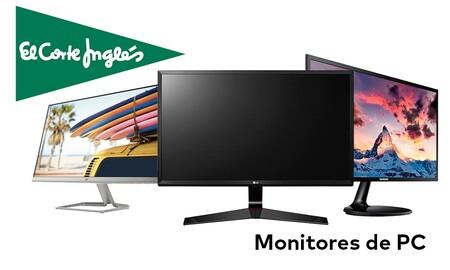 13 monitores para PC de ASUS, HP, LG, Philips o Samsung con descuentos de hasta el 29% en las ofertas de la semana de El Corte Inglés