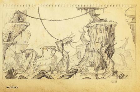 Boceto Escenario Paisaje