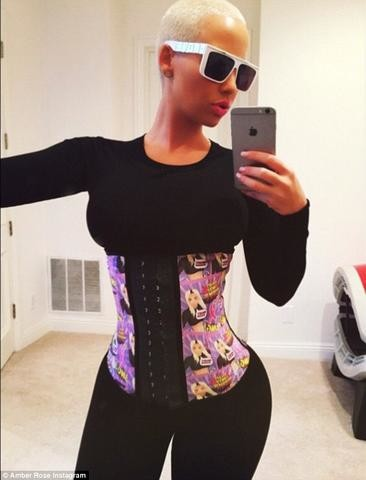 Amber Rose Waist Training