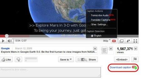 Youtube Caption Downloader, una extensión para Firefox que nos baja los subtitulos de YouTube en formato SRT