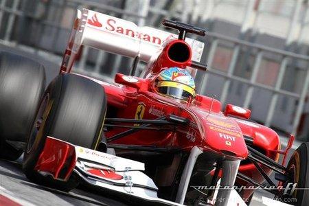 GP Australia F1 2011: Fernando Alonso detrás de los Red Bull y los McLaren