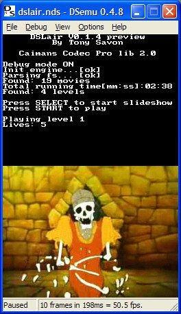 Juega al Dragon's Lair en tu DS