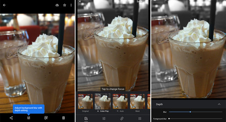 Google Fotos permite cambiar el desenfoque de una foto y añade Color Pop a algunos usuarios