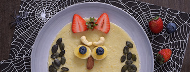 Crêpes monstruosos para Halloween. Receta saludable