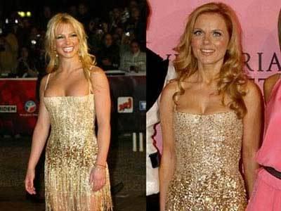 Vestido de Cavalli ¿Britney o Geri?