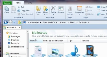 Better Explorer, utilizando Ribbon para administrar tus archivos en Windows Vista y 7