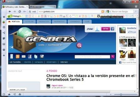 Opera 11.5 RC 3, cambios en el aspecto del interfaz