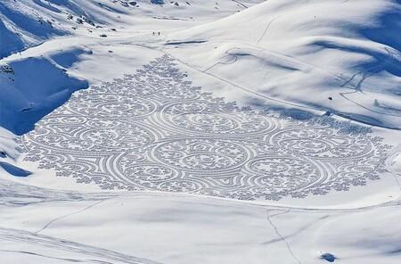 """De futuro ingeniero a """"artista de las nieves"""": así es el espectacular trabajo de Simon Beck"""