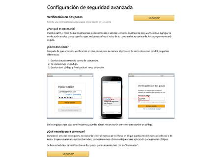 Como Activar Verificacion Autenticacion Dos Pasos Amazon