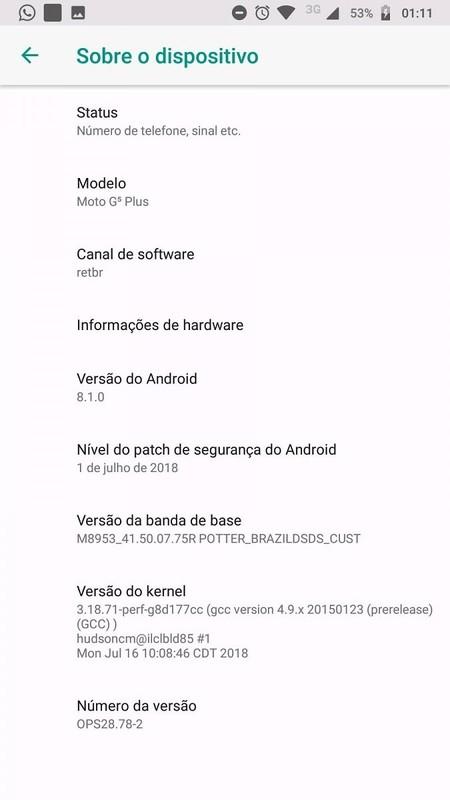 Moto G5s Actualizacion