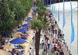 ¿A la playa en París?