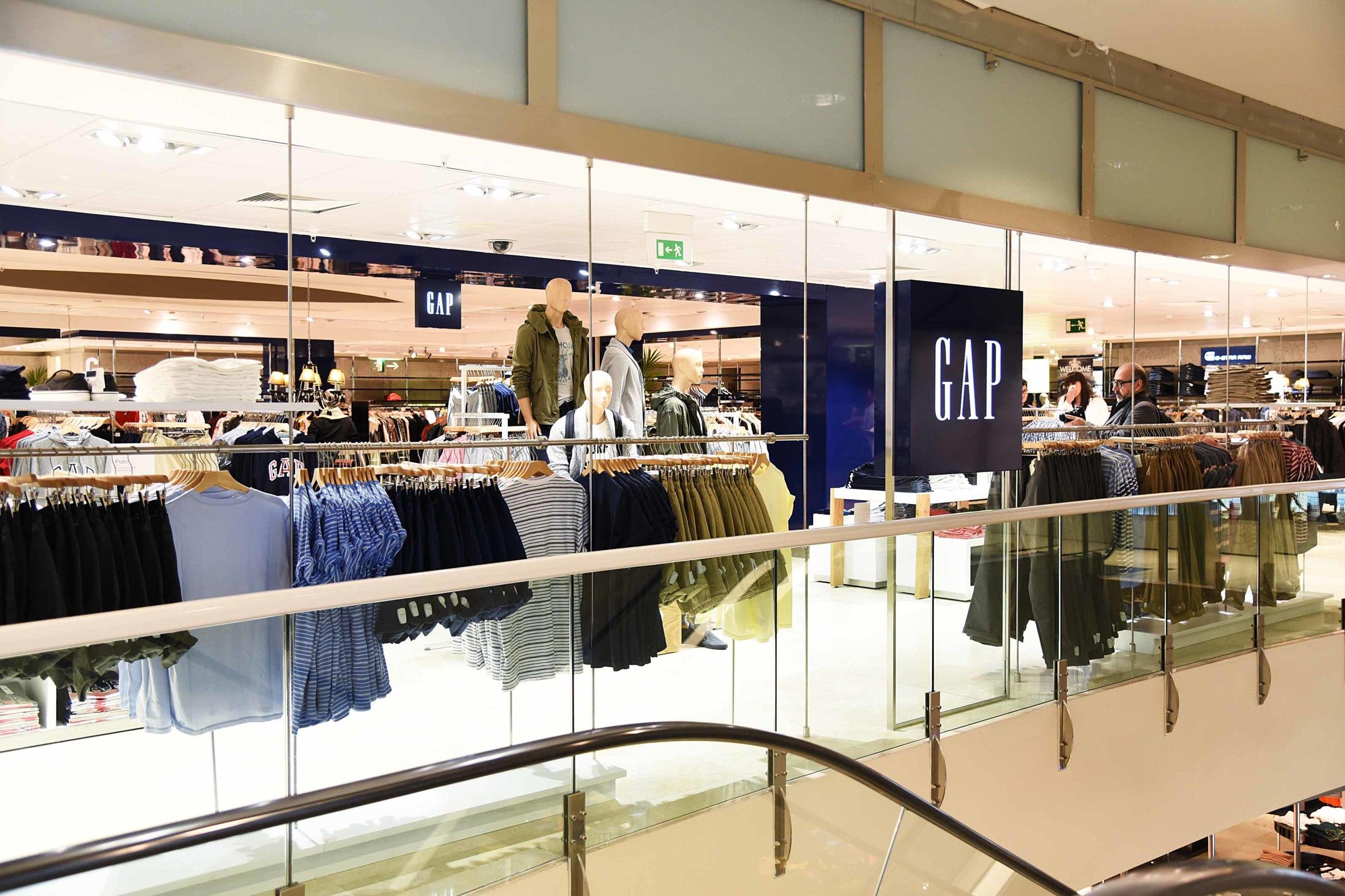 La tienda de Gap en El Corte Inglés de Barcelona