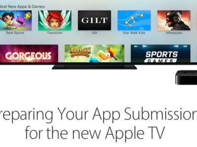 Las nuevas apps para el Apple TV ya se pueden enviar para revisión