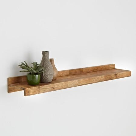 Estante de madera de roble