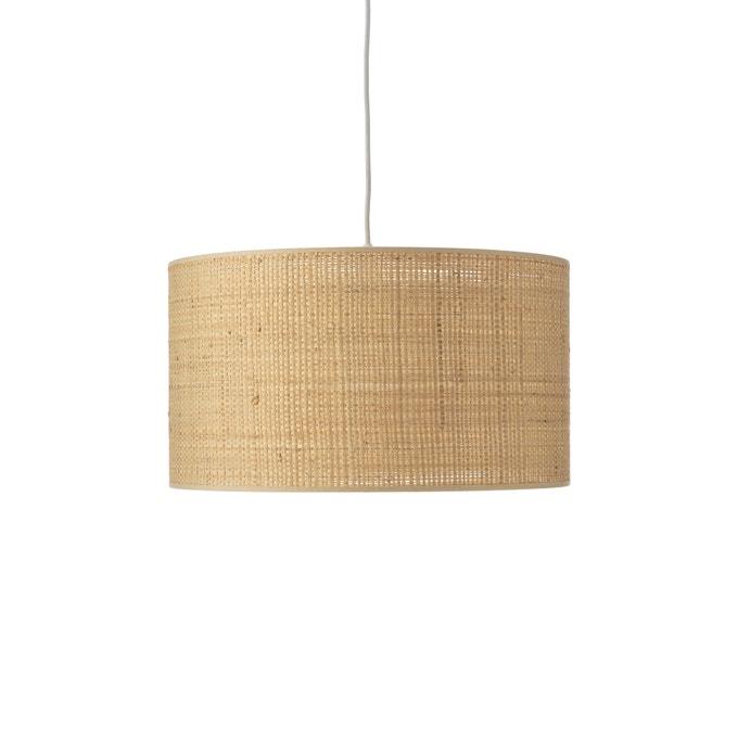 Pantalla de lámpara de rafia natural Wombat