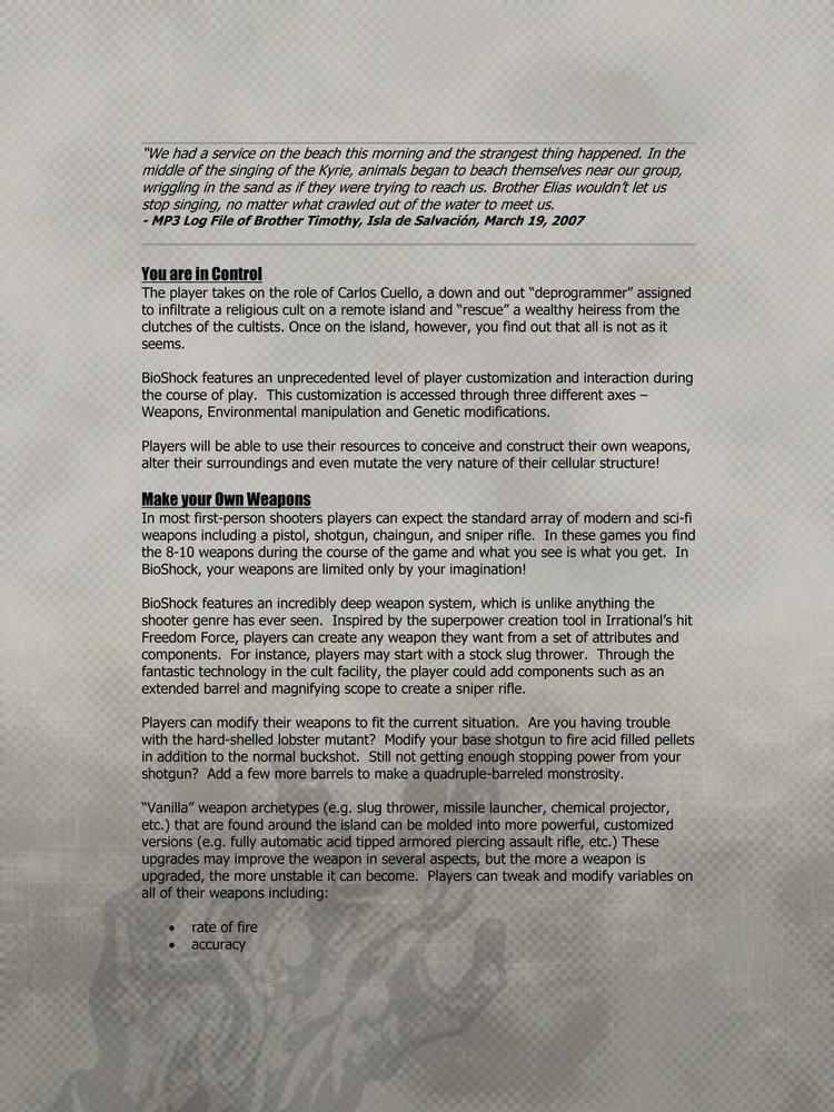 Foto de 'BioShock', documentos originales (6/9)