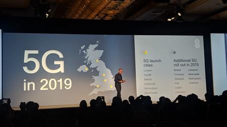 Despliegue 5G en 2019 para Reino Unido
