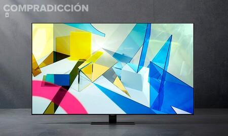 Esta smart TV QLED de 55 pulgadas cuesta 220 euros menos en MediaMarkt esta semana: Samsung QE55Q80T por 789 euros