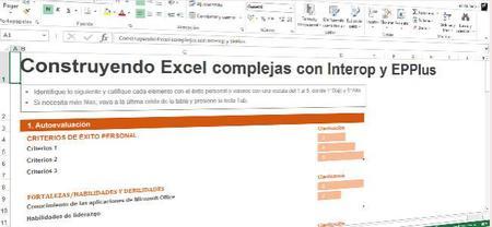 EPPlus, o como tratar en C# con Excel en OpenXML y no morir con Interop. Capítulo 1