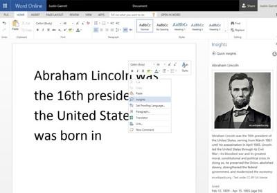 Office Online incorpora búsqueda contextual mediante Bing, mejor soporte para PDF y otras mejoras