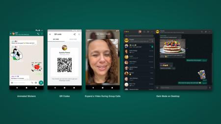 WhatsApp Web con modo oscuro, códigos QR para  añadir contactos y stickers animados para todos: lo que llega a WhatsApp este 2020