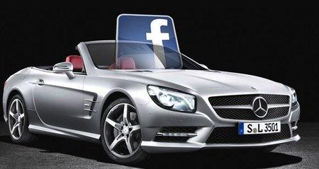 Un Mercedes Benz con Facebook para llevar