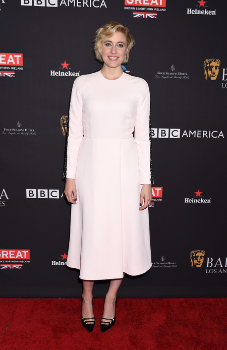tea party bafta alfombra roja Greta Gerwig