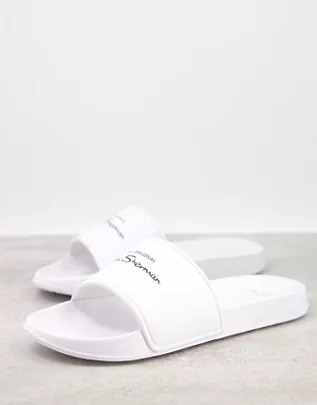 Sandalias blancas con logo de Ben Sherman