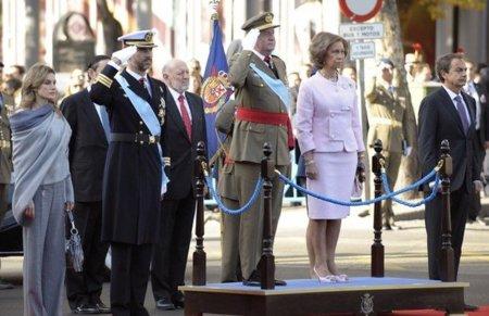 El look de la Princesa Letizia en el desfile por el Día de la Fiesta Nacional en Madrid