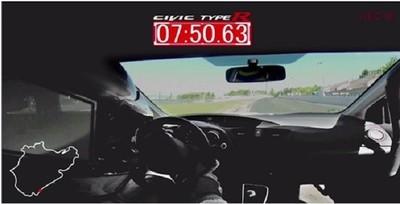 Honda Civic Type R: 7:50:63 en Nürburgring, y en vídeo