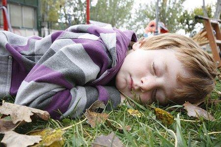 La foto de tu bebé: Hugo durmiendo al aire libre