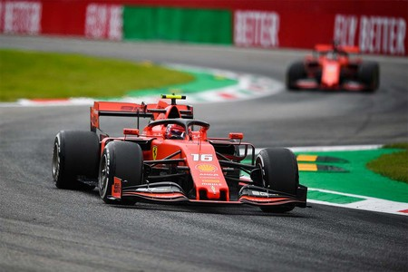 Leclerc Vettel Monza F1 2019