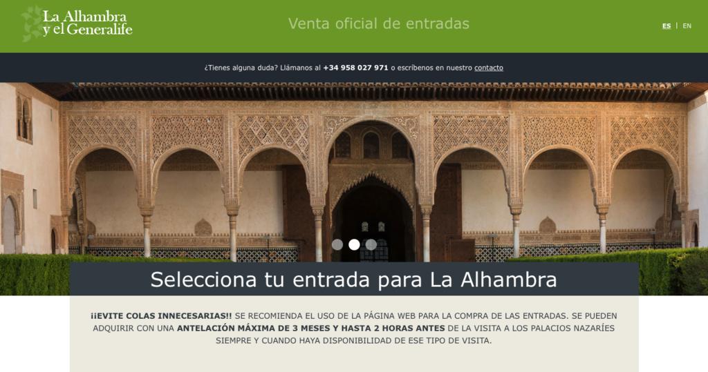 Una brecha en la web de entradas de la Alhambra expone los datos de 4,5 millones de visitantes
