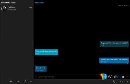 La aplicación de Skype y mensajería de Windows 10 se deja ver en la última build filtrada