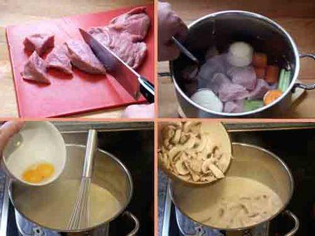 Elaboración del estofado y la salsa