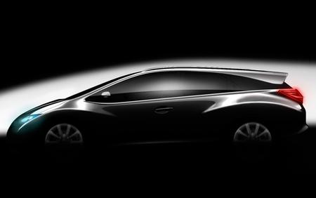 Honda Civic Tourer concept, primer esbozo parisino
