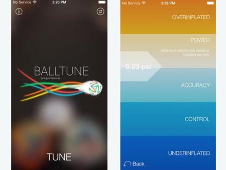 Una app para medir la presión de los balones de fútbol