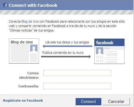 Conéctate a Blogdecine con tu cuenta de Facebook
