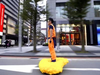 Este taiwanés lleva el cosplay de 'Dragon Ball' a otro nivel: convierte un hoverboard en nube Kinto