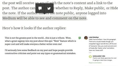 Los comentarios (o notas) en Medium