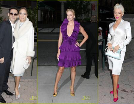 Charlize Theron, Christina Aguilera y Jennifer López, en el desfile crucero de Dior