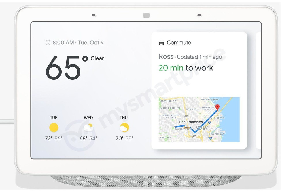 Google Home Hub, filters the smart screen that Google will present in October
