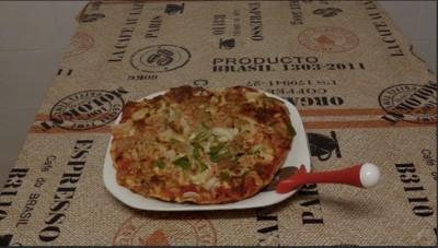 Video receta de pizza casera baja en calorías