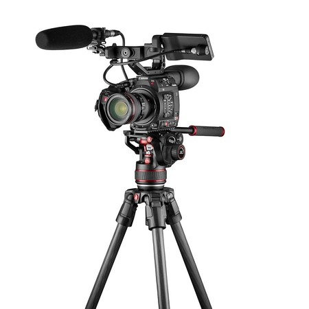 Video Tripods Manfrotto Single Fast Mvtsngfc With 608 Camera Front