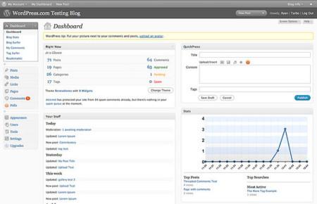 Wordpress 2.7 RC2: un pasito más hacia la versión final