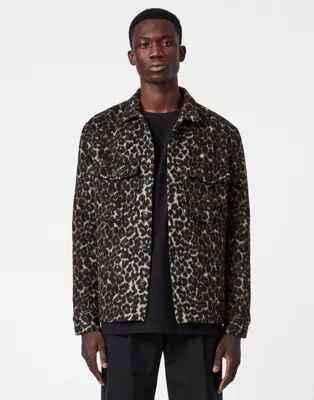 Camisa con estampado de leopardo Laurier de AllSaints
