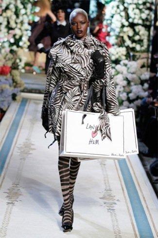 Lanvin HM, colección Alta Costura, vestido cebra