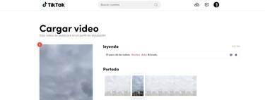 Cómo subir vídeos a TikTok desde su web oficial