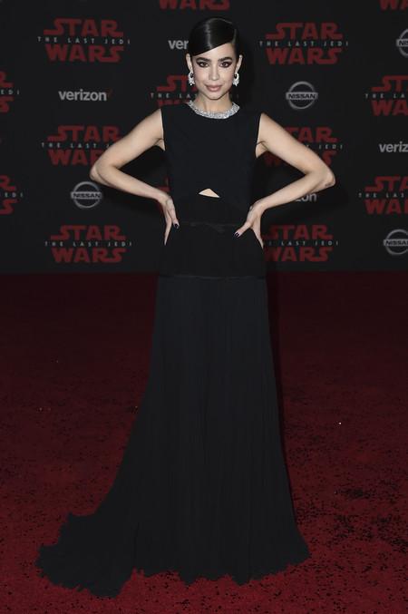 star wars ultimo jedi alfombra roja look Sofia Carson