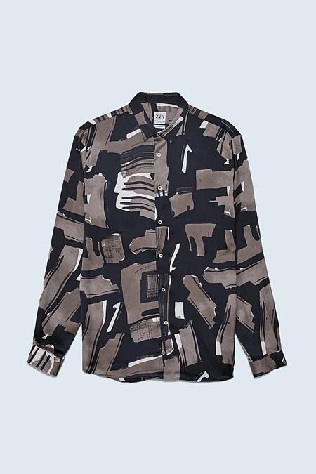 Zara Sigue Triunfando En Nuestro Armario Con Sus Camisas De Estampado Artistico Esta Primavera